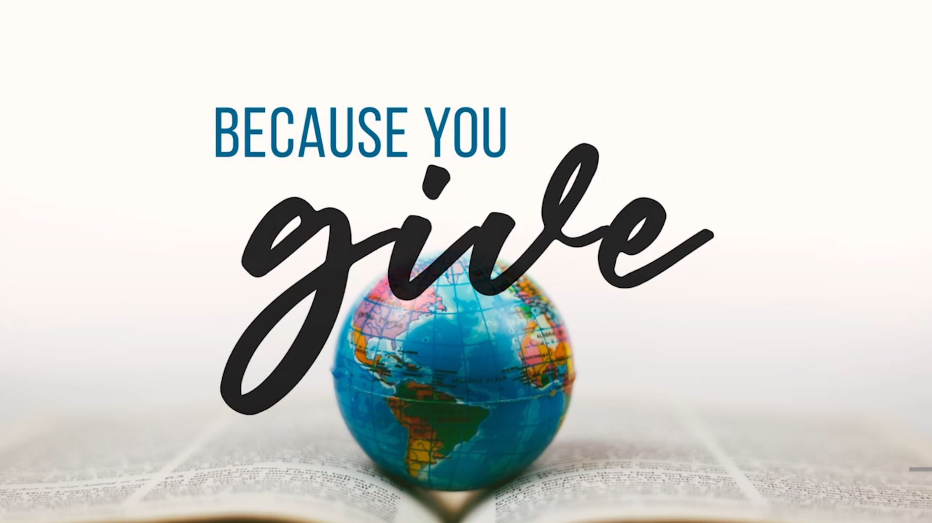 Because You Give